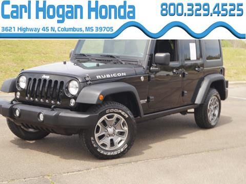 2015 Jeep Wrangler Unlimited for sale in Columbus, MS