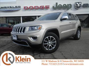 2014 Jeep Grand Cherokee for sale in Clintonville, WI