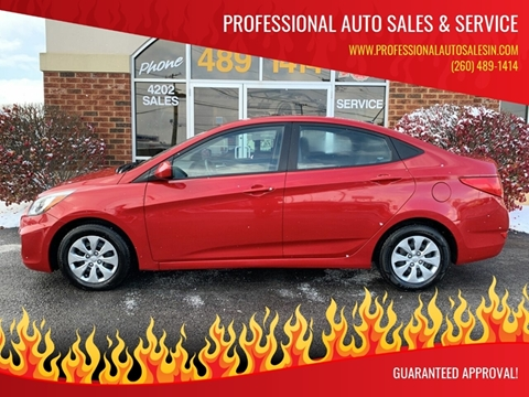 2017 Hyundai Accent for sale at Professional Auto Sales & Service in Fort Wayne IN