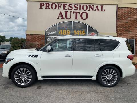 2017 Infiniti QX80 for sale at Professional Auto Sales & Service in Fort Wayne IN