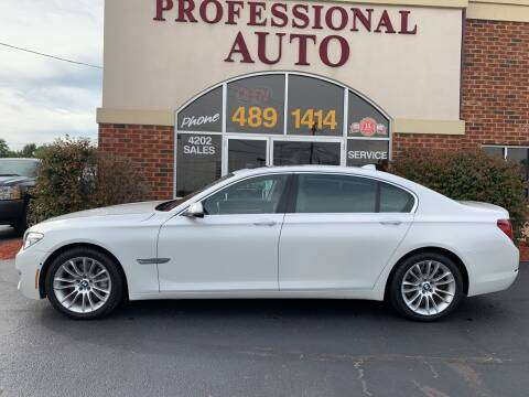 2013 BMW 7 Series for sale at Professional Auto Sales & Service in Fort Wayne IN