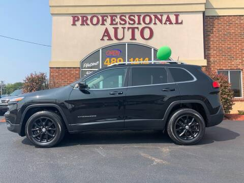 2016 Jeep Cherokee for sale at Professional Auto Sales & Service in Fort Wayne IN