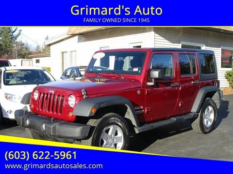 2012 Jeep Wrangler Unlimited for sale in Hooksett,, NH