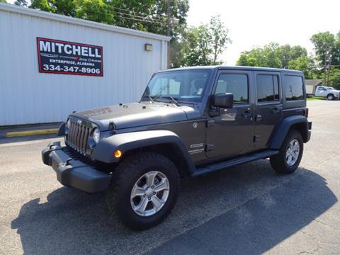 2016 Jeep Wrangler Unlimited for sale in Enterprise, AL