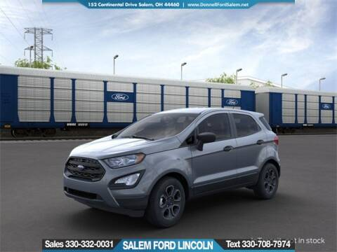 2020 Ford EcoSport S for sale at DONNELL FORD LINCOLN in Salem OH