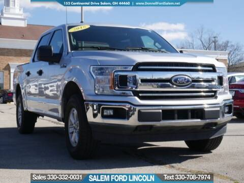 2018 Ford F-150 XLT for sale at DONNELL FORD LINCOLN in Salem OH