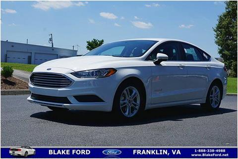 2018 Ford Fusion Hybrid for sale in Franklin, VA
