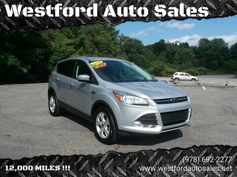 2014 Ford Escape for sale at Westford Auto Sales in Westford MA