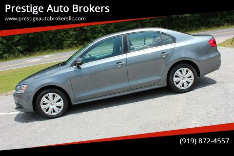 2013 Volkswagen Jetta for sale at Prestige Auto Brokers in Raleigh NC