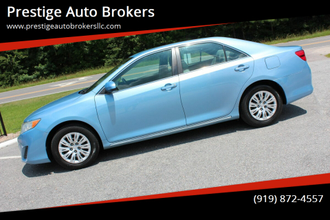 2012 Toyota Camry for sale at Prestige Auto Brokers in Raleigh NC