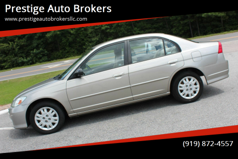 2004 Honda Civic for sale at Prestige Auto Brokers in Raleigh NC
