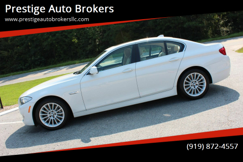 2012 BMW 5 Series for sale at Prestige Auto Brokers in Raleigh NC