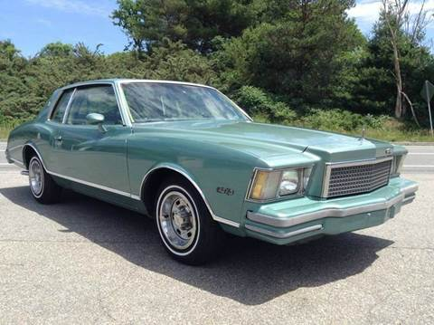 1978 Chevrolet Monte Carlo for sale at Clair Classics in Westford MA