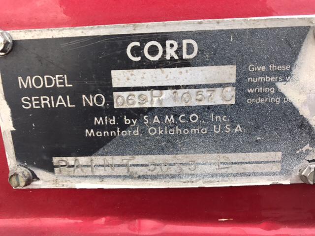 1970 Cord Warrior  - Westford MA