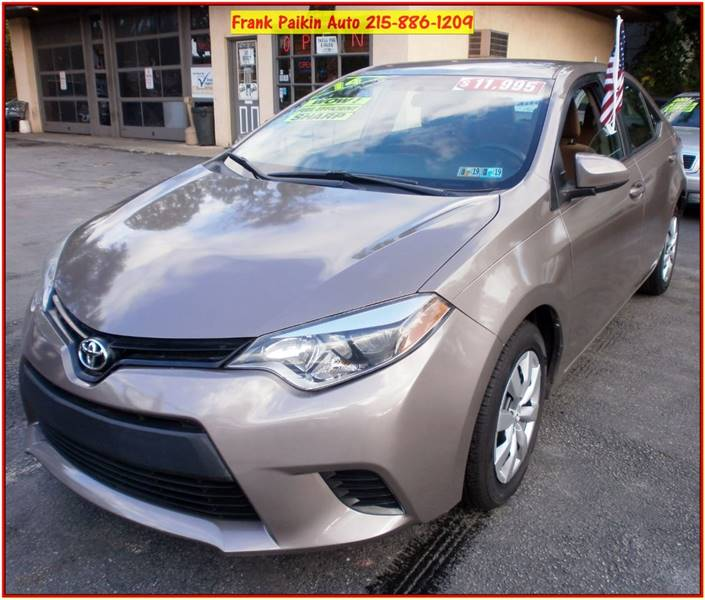 2014 Toyota Corolla For Sale At Frank Paikin Auto In Glenside PA