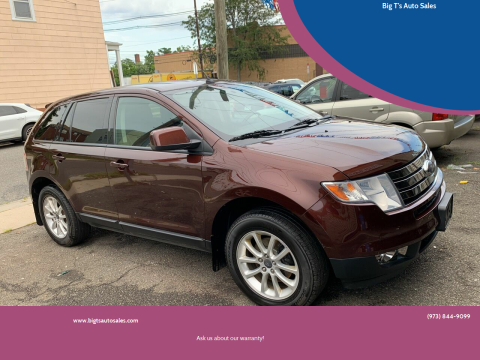 2010 Ford Edge for sale at Big T's Auto Sales in Belleville NJ