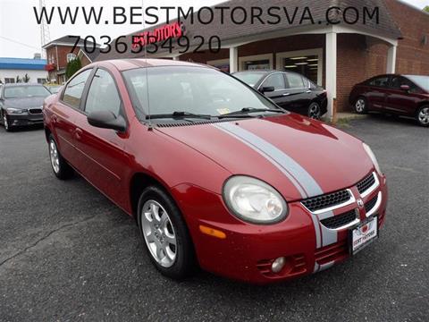 2003 Dodge Neon for sale at Best Motors, Inc. in Fredericksburg VA
