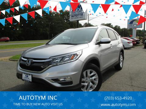 2016 Honda CR-V for sale at AUTOTYM INC in Fredericksburg VA