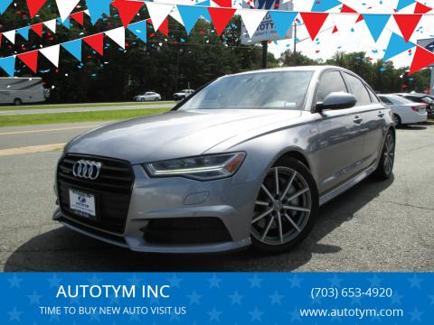 2016 Audi A6 for sale at AUTOTYM INC in Fredericksburg VA