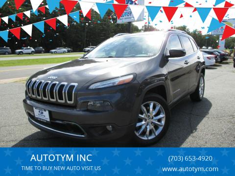 2014 Jeep Cherokee for sale at AUTOTYM INC in Fredericksburg VA