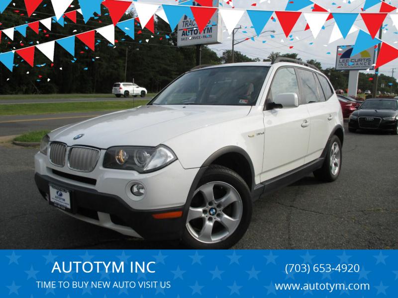2008 BMW X3 for sale at AUTOTYM INC in Fredericksburg VA