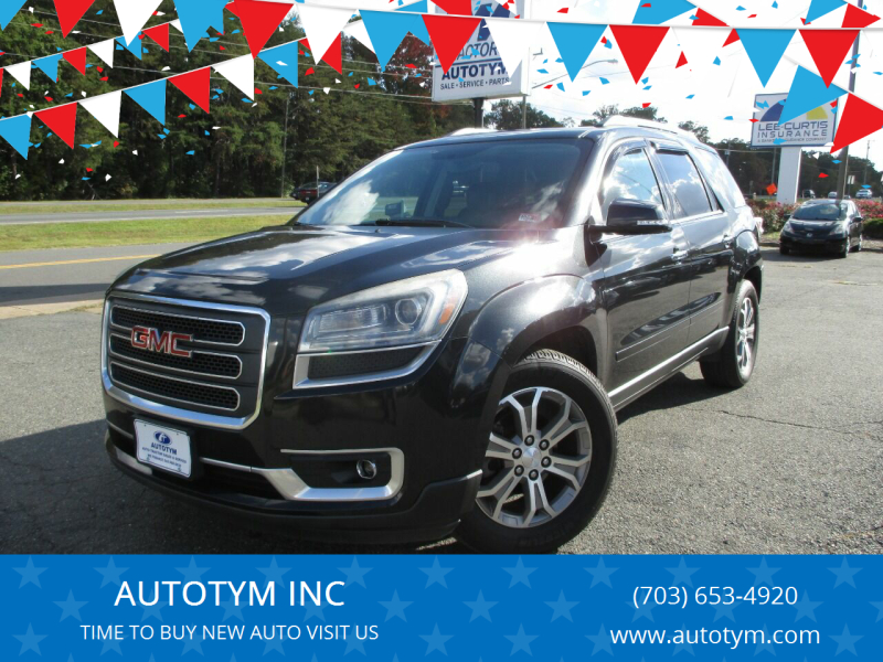 2013 GMC Acadia for sale at AUTOTYM INC in Fredericksburg VA