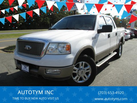 2004 Ford F-150 for sale at AUTOTYM INC in Fredericksburg VA