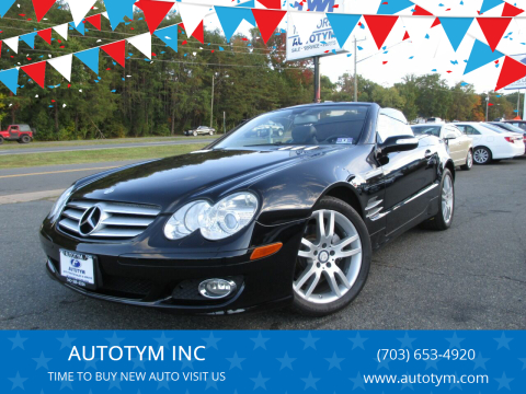 2008 Mercedes-Benz SL-Class for sale at AUTOTYM INC in Fredericksburg VA