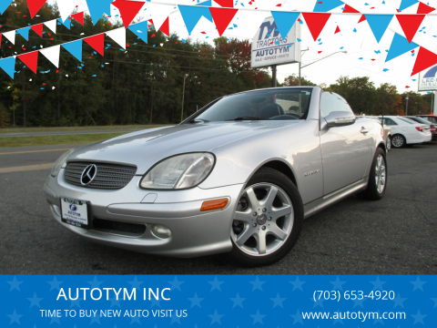 2002 Mercedes-Benz SLK for sale at AUTOTYM INC in Fredericksburg VA