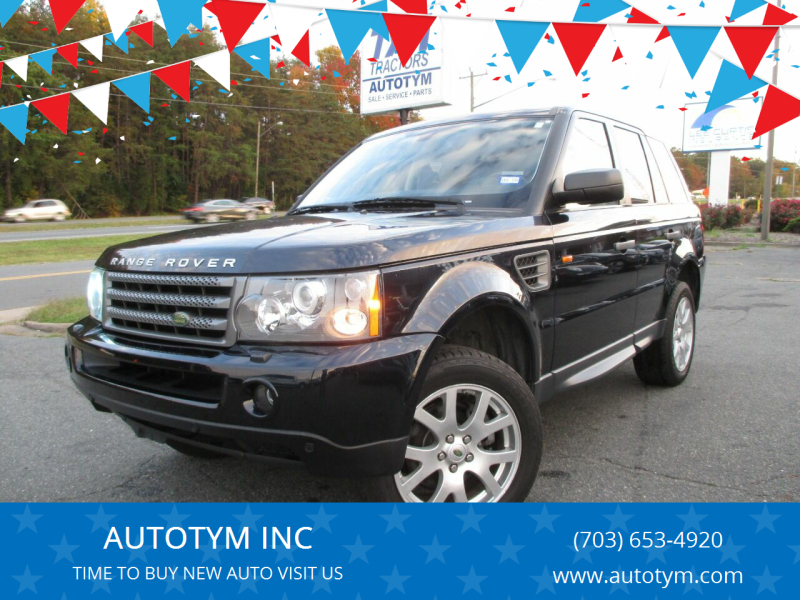 2008 Land Rover Range Rover Sport for sale at AUTOTYM INC in Fredericksburg VA