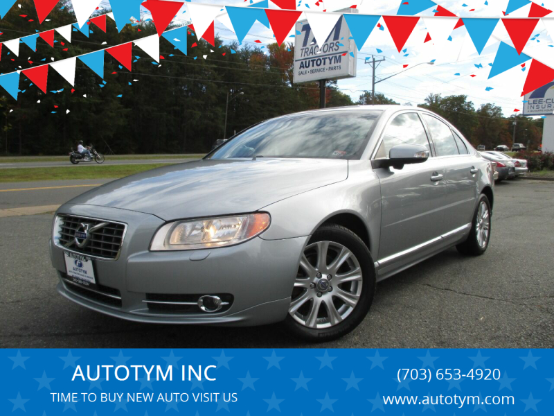 2011 Volvo S80 for sale at AUTOTYM INC in Fredericksburg VA