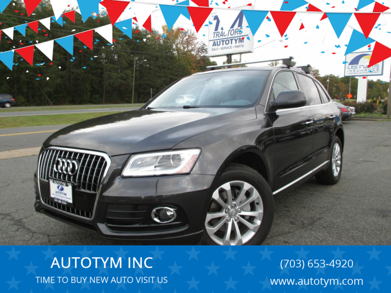 2015 Audi Q5 for sale at AUTOTYM INC in Fredericksburg VA