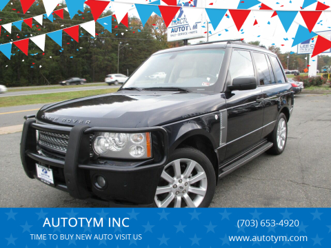 2006 Land Rover Range Rover for sale at AUTOTYM INC in Fredericksburg VA