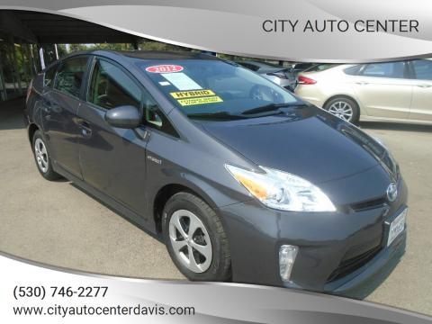 2012 Toyota Prius for sale at City Auto Center in Davis CA
