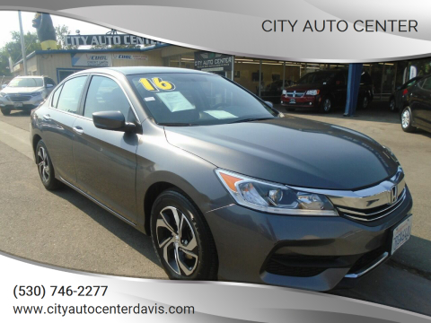 2016 Honda Accord for sale at City Auto Center in Davis CA