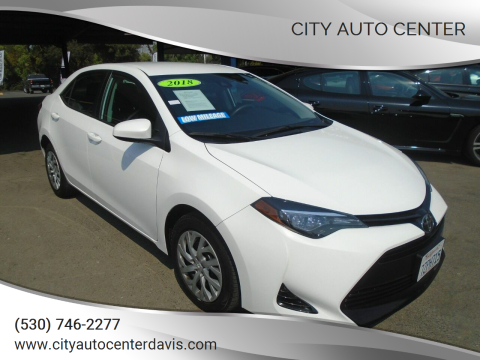 2018 Toyota Corolla for sale at City Auto Center in Davis CA