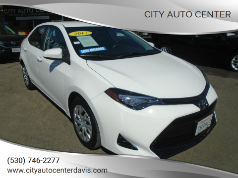 2017 Toyota Corolla for sale at City Auto Center in Davis CA