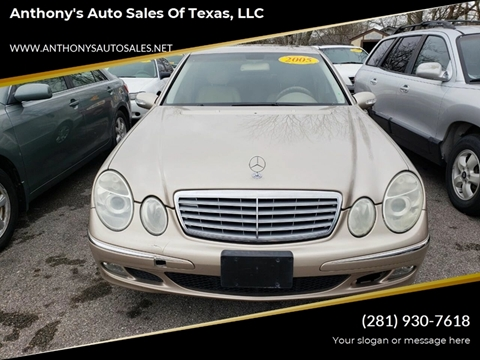 2005 Mercedes-Benz E-Class for sale at Anthony's Auto Sales of Texas, LLC in La Porte TX