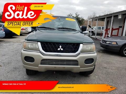 2002 Mitsubishi Montero Sport for sale at Anthony's Auto Sales of Texas, LLC in La Porte TX