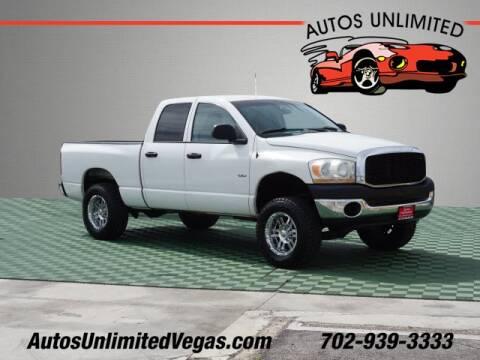 Las Vegas Dodge >> 2006 Dodge Ram Pickup 1500 For Sale In Las Vegas Nv