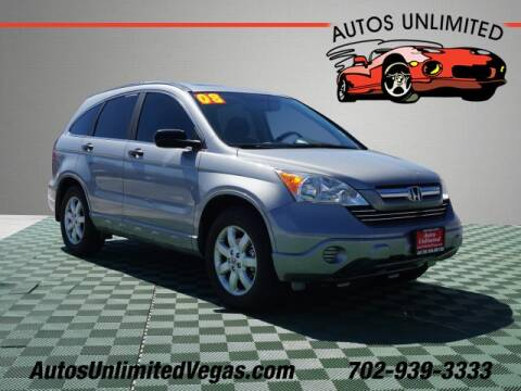 2008 Honda CR-V for sale at Autos Unlimited in Las Vegas NV