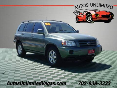 2005 Toyota Highlander for sale at Autos Unlimited in Las Vegas NV