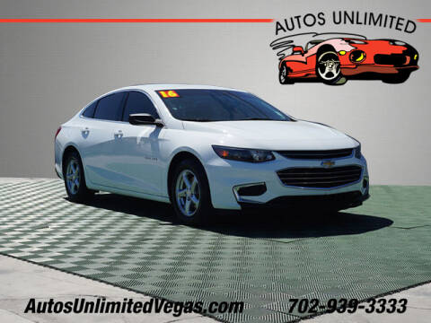 2016 Chevrolet Malibu for sale at Autos Unlimited in Las Vegas NV