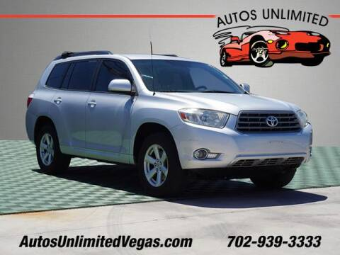 2008 Toyota Highlander for sale at Autos Unlimited in Las Vegas NV