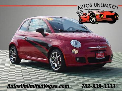 2012 FIAT 500 for sale at Autos Unlimited in Las Vegas NV