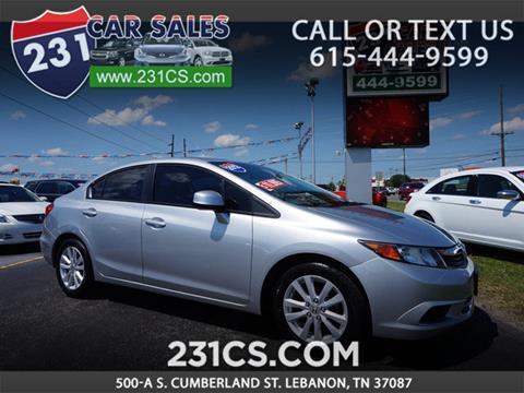 2012 Honda Civic for sale in Lebanon, TN