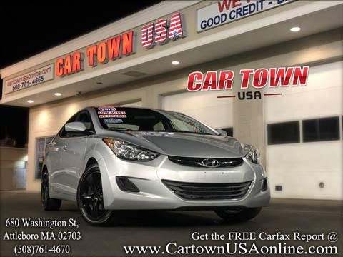 2013 Hyundai Elantra for sale at Car Town USA in Attleboro MA