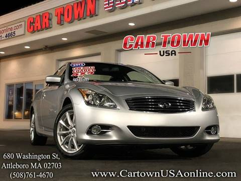 2012 Infiniti G37 Coupe for sale at Car Town USA in Attleboro MA