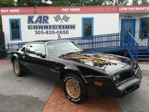 1977 Pontiac Firebird for sale at Kar Connection in Miami FL