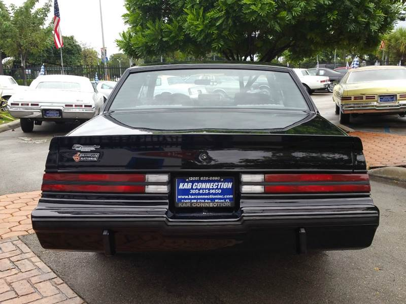 1987 Buick Regal Grand National Turbo Coupe In Miami FL  Kar